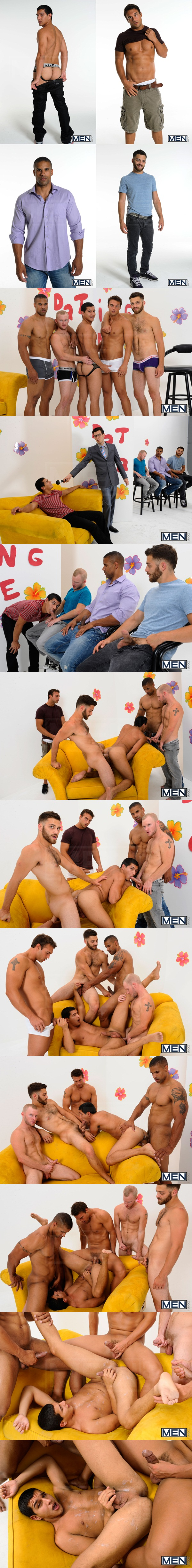 Robert Axel, Tommy Defendi, Rocco Reed and Zane Michaels fuck Tony Newport in The Gay Dating Game at Jizzorgy 01