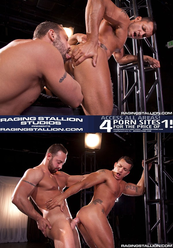 Masculine beefy Fabio Stallone pounds Angelo Marconi at Ragingstallion