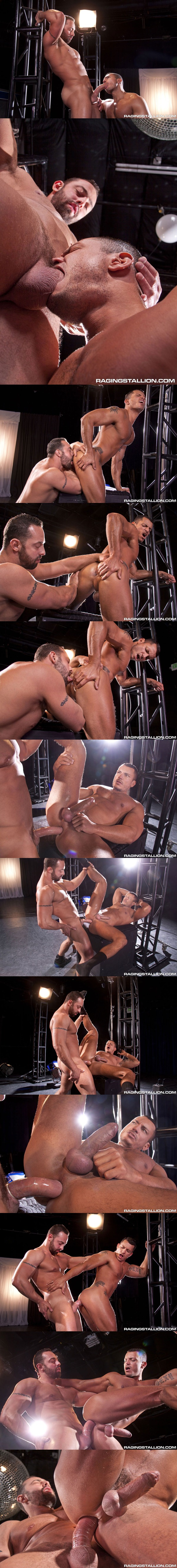 Masculine beefy Fabio Stallone pounds Angelo Marconi at Ragingstallion 01