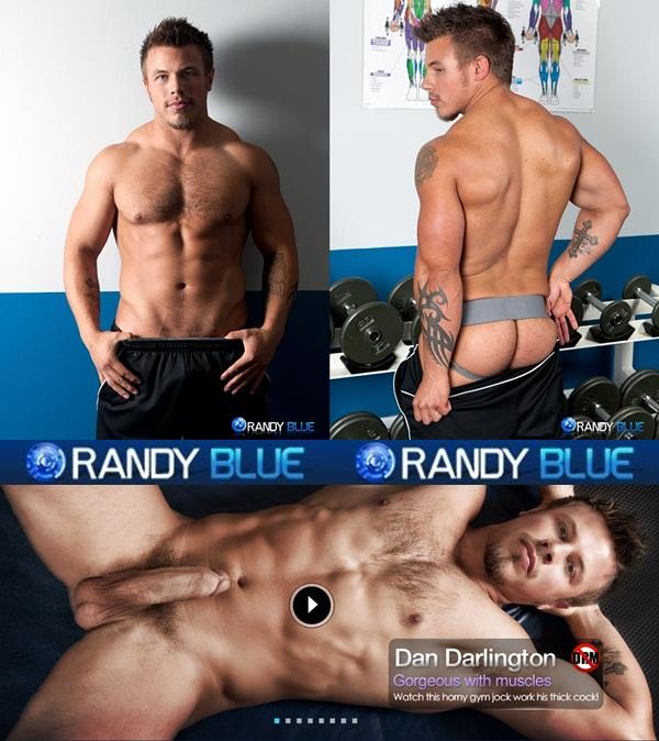 big-dicked muscular Dan Darlington fingering and shooting a big load at Randyblue
