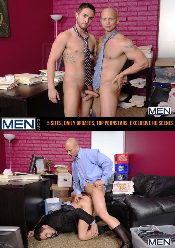 Demanding boss John Magnum Fucks his hot employee Bryce Star in Law & Hoarder at Thegayoffice