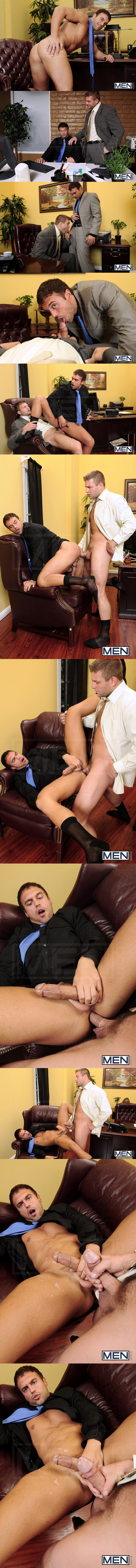 Rough Colby Jansen Fucks the load out of Rocco Reed at Thegayoffice 01
