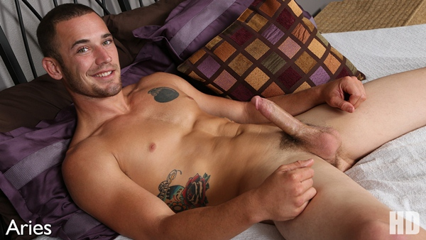 Sexy hot young form military guy Aries shoots his big loads at Chaosmen