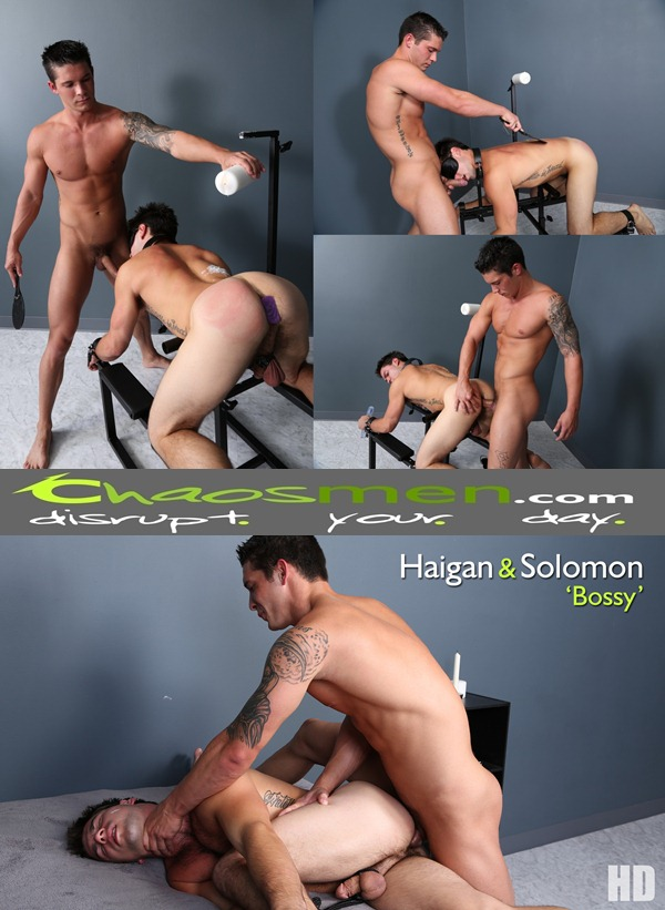 Masculine dominant Haigan Barebacks and abuses handsome Solomon Bossy at Chaosmen