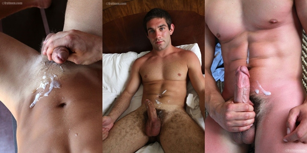 Cumshots of hot muscle jock Clayton, Max, Felix, Romeo, Burke, Micky & Ajay in Greatest Shots volume 8 at Fratmen