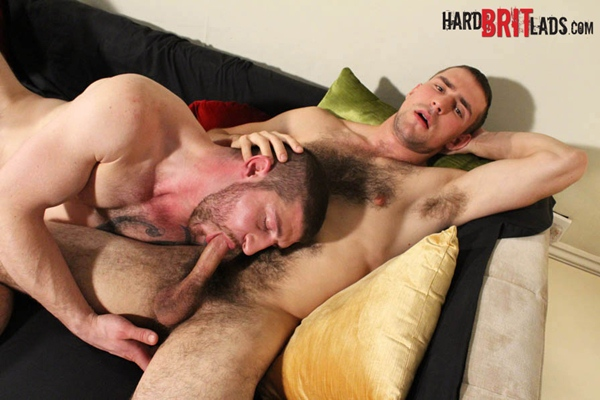 Manly rugged Jeff Stronger & handsome hairy Guy Rogers sucking, kissing, assplay and jerking off at Hardbritlads
