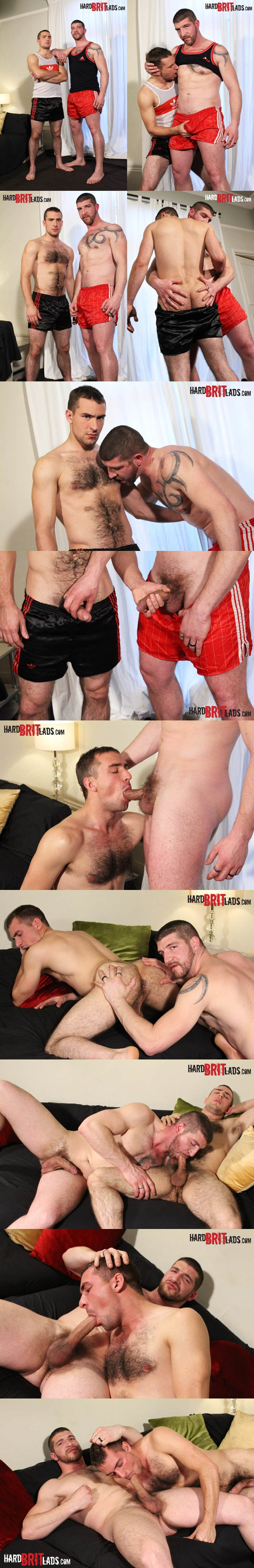 Manly rugged Jeff Stronger & handsome hairy Guy Rogers sucking, kissing, assplay and jerking off at Hardbritlads 01