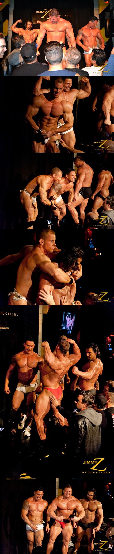 Oscar Maxx, Otto Mann, Vince Ferelli & Johnny Bravo flex and pose in BBJAM 31 Finale at Jimmyzproductions 01