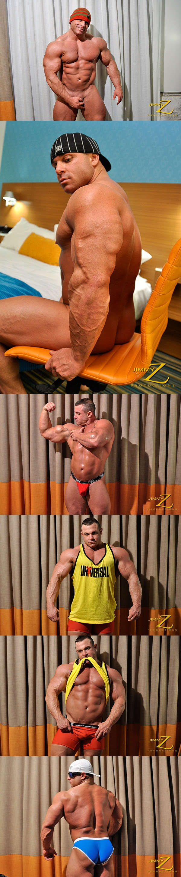 Handsome masculine muscular Chaz Ryan shows off his big muscles in An Invited Voyeur Part 1 at Jimmyzproductions 01