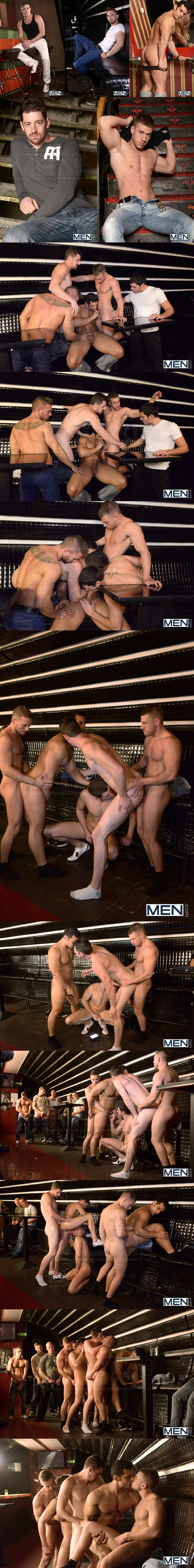Marcus Ruhl, Andrew Stark, Jeffrey Branson, Kyler Braxton and Gabe Russel have gangbang orgy in Men in Budapest 8 at aJizzorgy 01