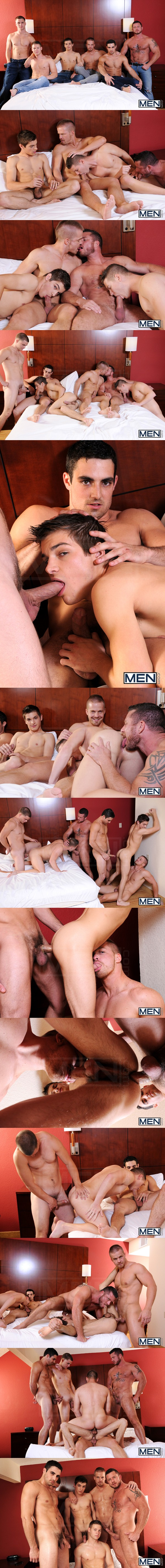 Johnny Rapid, Liam Magnuson, Jimmy Johnson, Charlie Harding, Jack King & Riley Banks Hot gangbang orgy in Turn Me Into A Whore 3 at Jizzorgy 01
