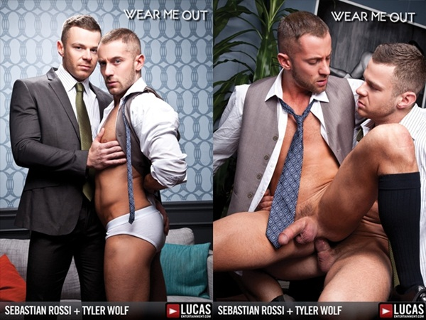 Hot masculine strong man Sebastian Rossi Fucks handsome Tyler Wolf at Lucasentertainment