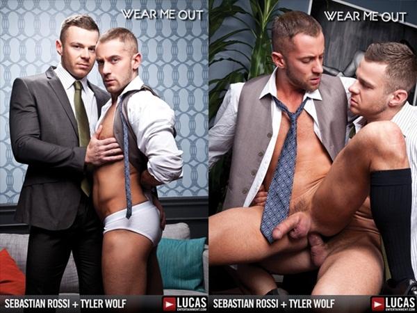 Hot masculine strong man Sebastian Rossi Fucks handsome Tyler Wolf at Lucasentertainment