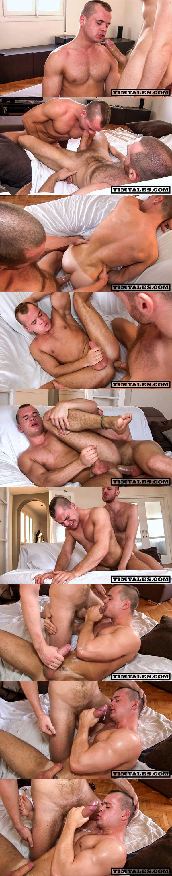 Big-dicked aggressive Tim power fucks young muscle guy Diesel O'Green at Timtales 01