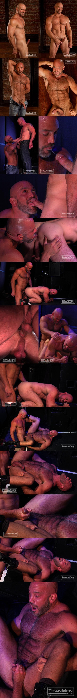 Muscular hairy daddy Jesse Jackman & Casey Williams Flip-Flop in Strobe at Titanmen 01