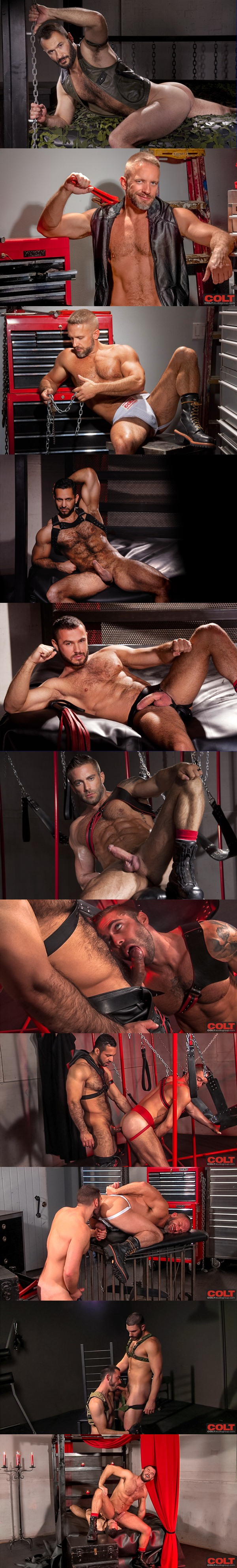 Wilfried Knight, Dolan Wolf, Jessy Ares, Dirk Caber, Adam Champ, Jake Genesis and Bob Hager have masculine rough men sex in Armour at Coltstudiogroup 01
