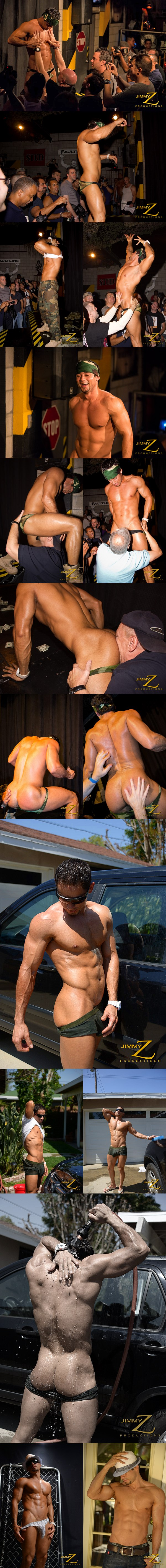Hot muscled big-dicked Franco Lombard has a horny muscle show in BBJAM #32 at Jimmyzproductions 01