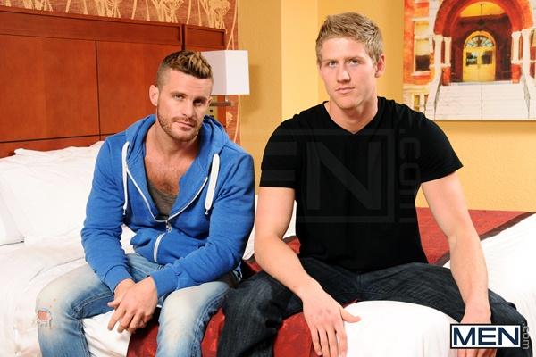 Handsome bearded Landon Conrad fucks hote Blond Brett Carter in The Divorcee at Str8togay