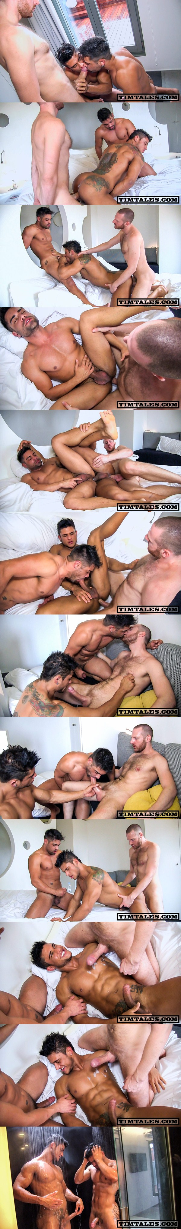Hot threeway of big-dicked Tim Fucks real couple muscled Diego & Wagner at Timtales 01