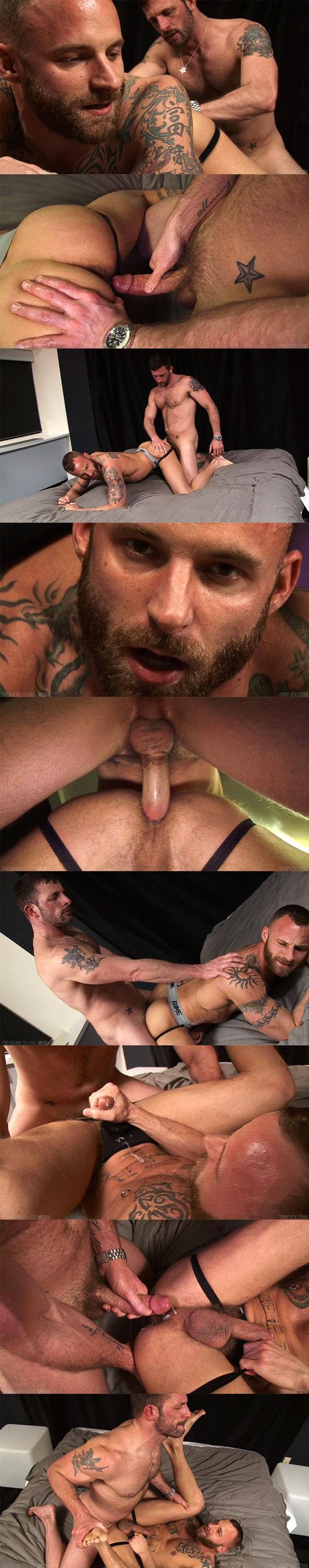 Handsome Morgan Black barebacks and breeds bearded Derek Parker at Timfuck 01