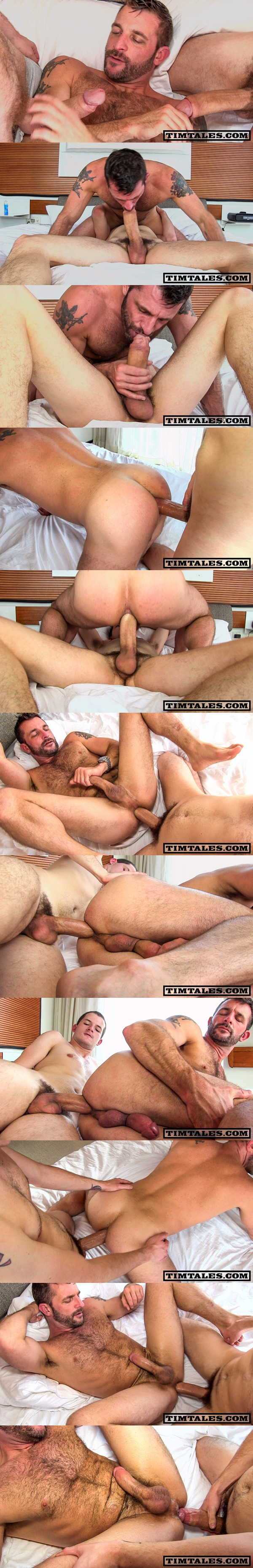 Horse-hung Devin Moss Barebacks scruffy handsome Morgan Black and breeds his muscle ass at Timtales 01