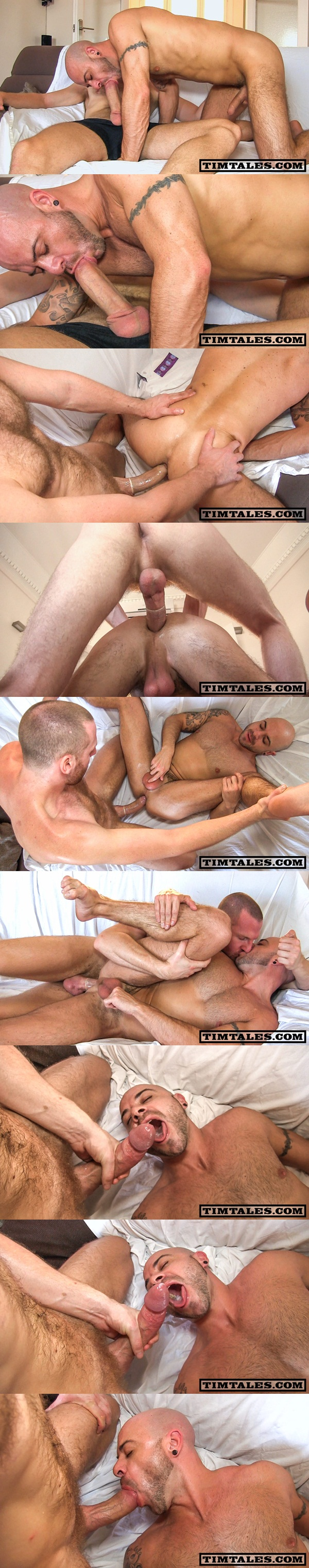 Big-dicked power-top Tim fucks UK beefy muscle bottom Ben Statham at Timtales 01
