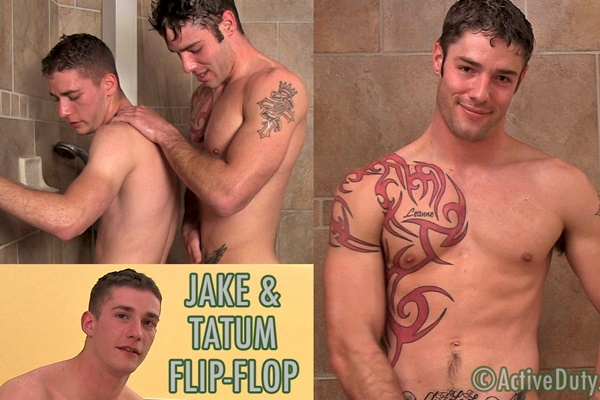 Tatum gets his virgin ass popped by Jake in a flip-flop fucking at Activeduty