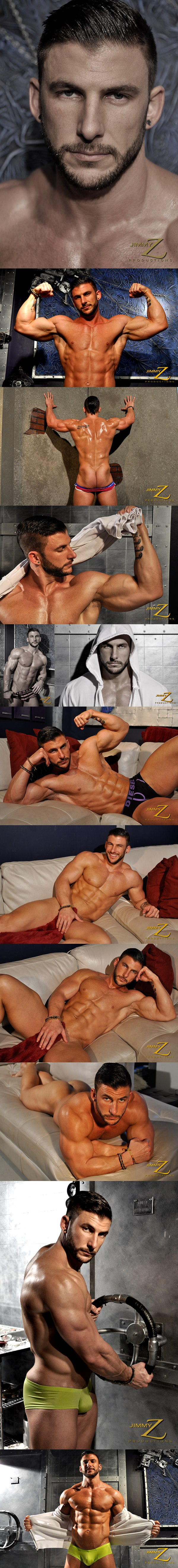Gorgeous Ryan Monroe shows off and oils up his hot body in Physique Interview 2 at Jimmyzproductions 01