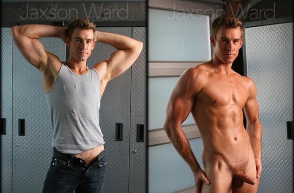 Hot blond ripped Jaxson Ward jerks off and dumps his big load at Legendmen