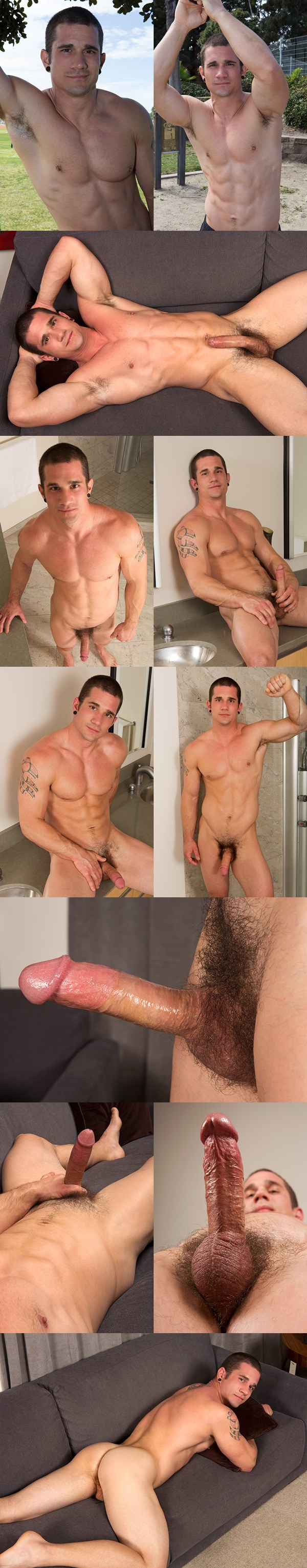 Handsome muscle jock Neil wanks himself off at Seancody 01