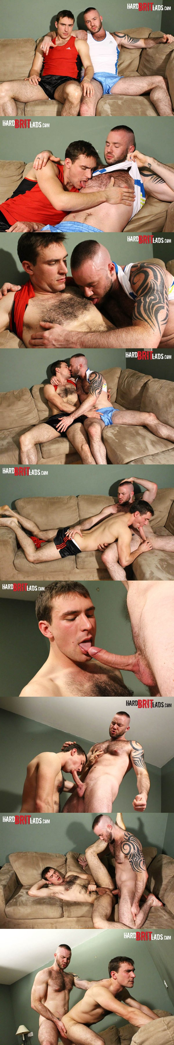 bearded Justin King pounds Guy Rogers in his virgin hole at hardbritlads 02