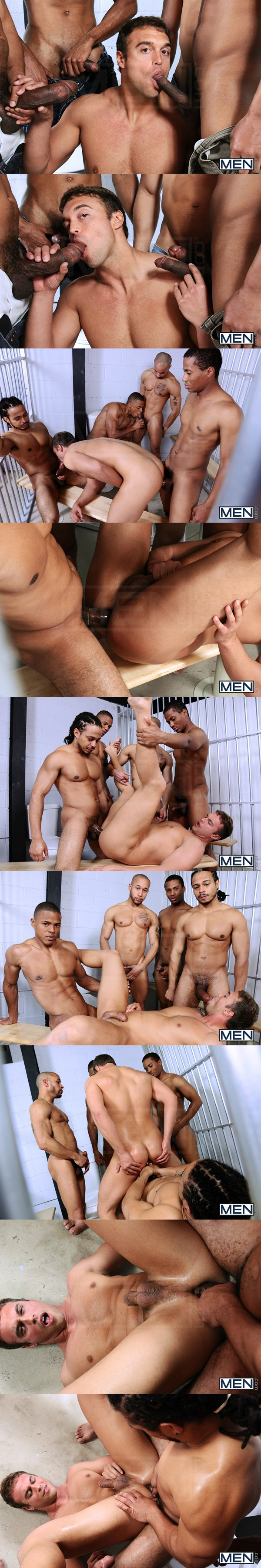 Big-dicked Lawson Kane, Castro Supreme, Paulo Thiago and Brett Johnson fuck Rocco Reed in Rocco's Fantasy at Jizzorgy 02