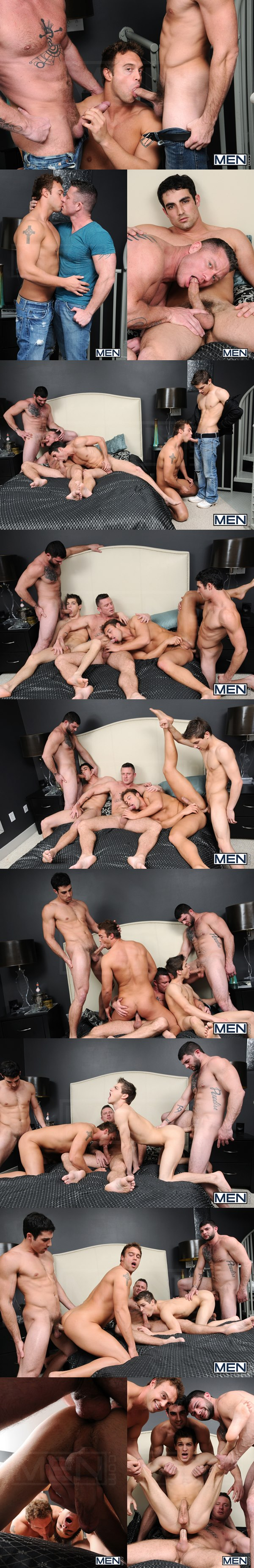 Tony Paradise, Charlie Harding & Jack King Fuck Johnny Rapid & Rocco Reed in Tops Only Required at Jizzorgy 02