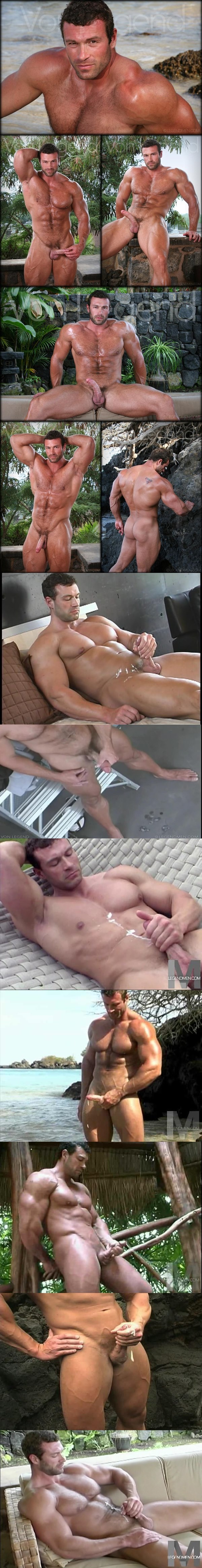Sexy Muscular Von Legend shoots his thick mikly loads of cums in 7 cumshot collections at Legendmen 02