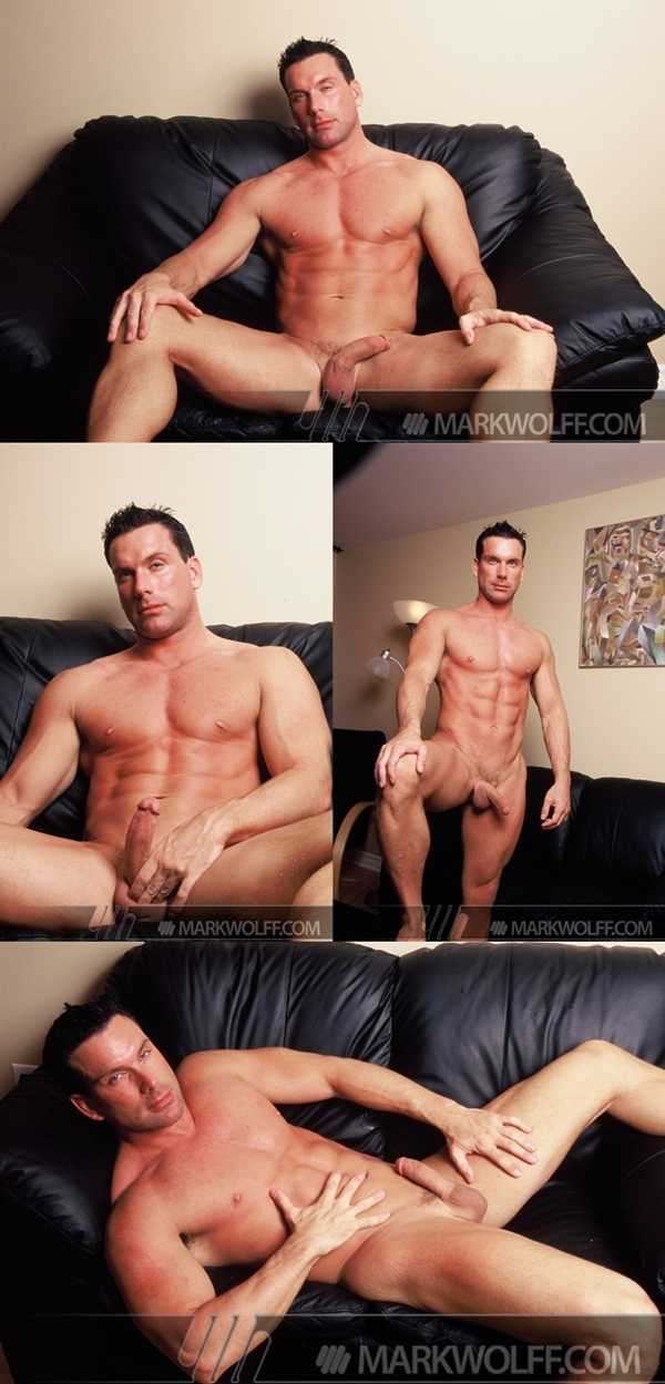 Handsome muscle hunk Chris Naslund, Tristan Scott & Gage Mason shoot their hot loads of cums at Markwolff 03