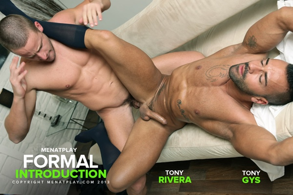 Blond hunk Tony Gys fucks a big load out of handsome Tony Rivera in Formal Introduction at Menatplay
