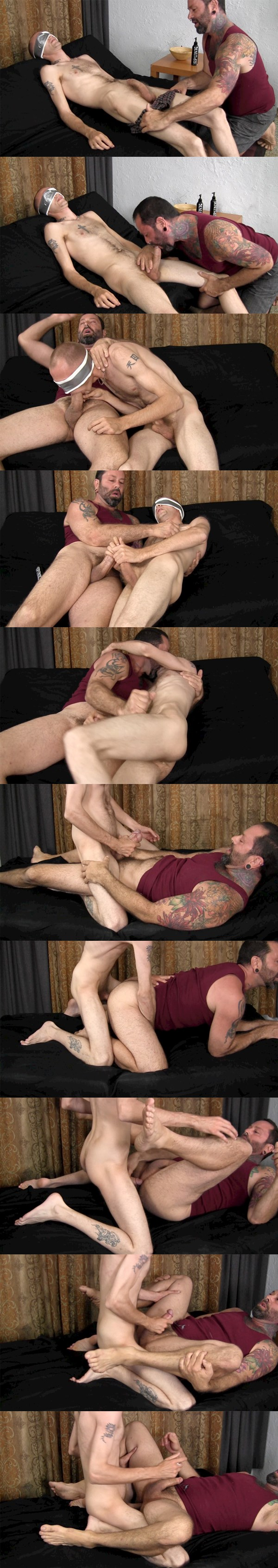 Big-dicked Dee barebacks and creampies pledgemaster Franco at Straightfraternity 02