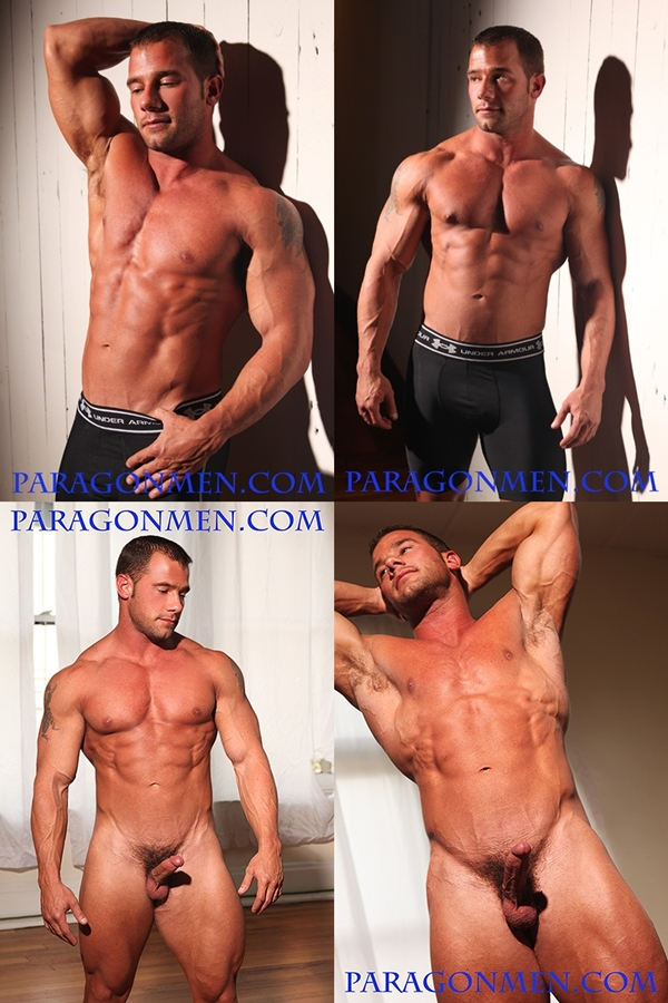 Hot muscular straight hunks Kent Slugger, Nico Bennett & Scott Jenkins shows off their hot bodies at Paragonmen 01