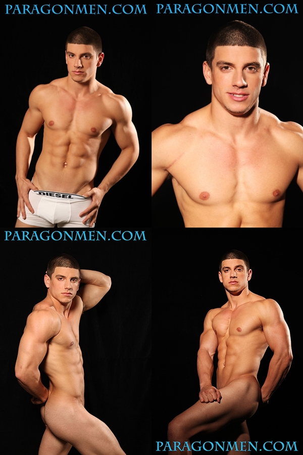 Hot muscular straight hunks Kent Slugger, Nico Bennett & Scott Jenkins shows off their hot bodies at Paragonmen 02