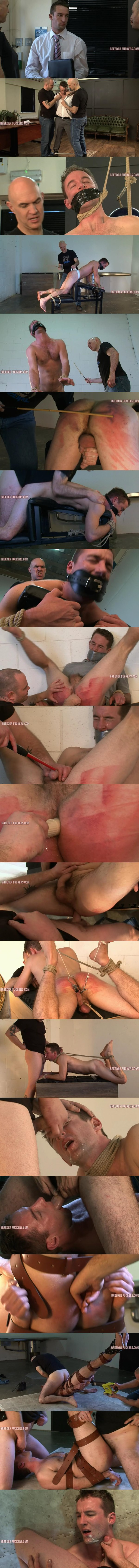 Macho straight man Shamus gets disciplined and humiliated by skinhead masters Adrian and Dave at Breederfuckers 02