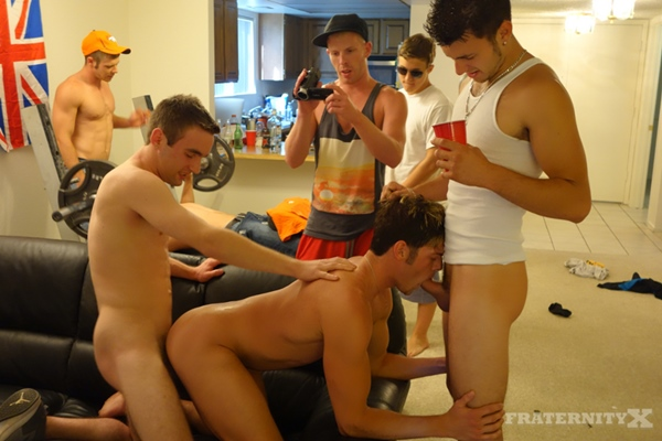 Phoenix & Sean get Barebacked and bred by three hot college dudes in Hot Mess 2 at Fraternityx