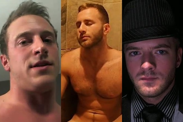 Three hot muscle jocs Doc Tay Tay, La EL and Sean Holmes jack off at Gayhoopla