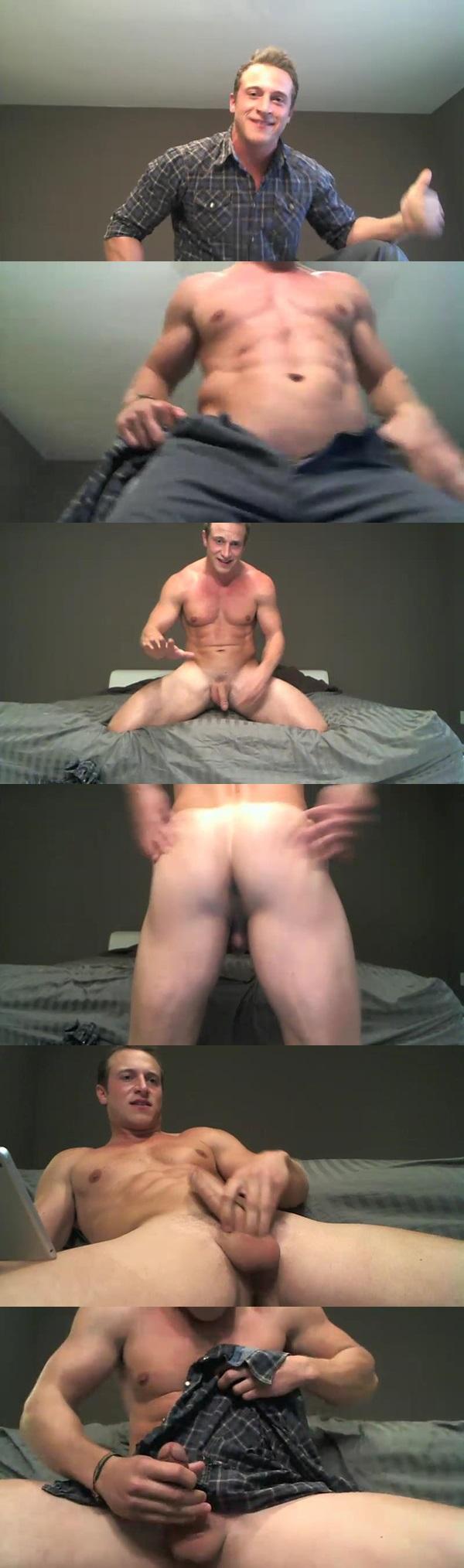 Handsome muscle jock Doc Tay Tay aka Fratmen Taylor dumps his creamy loads of cum at Gayhoopla