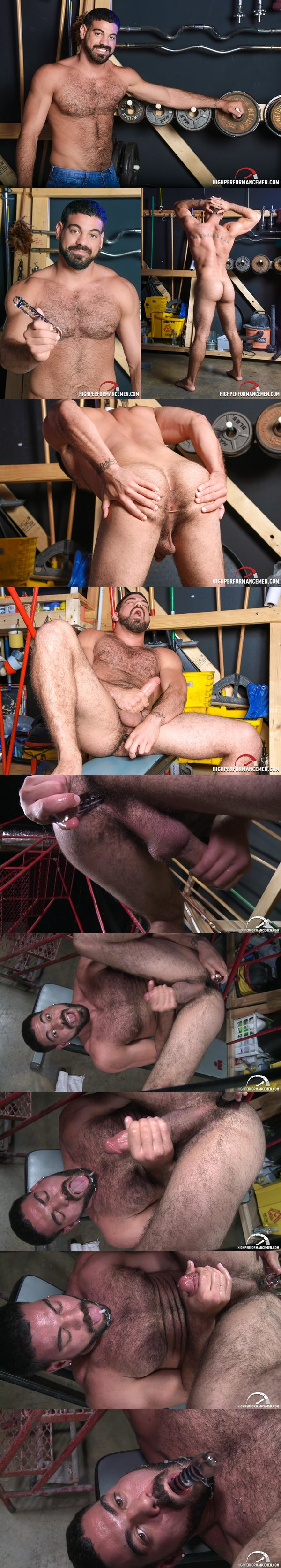 Ricky Larkin 1st Time with a Toy and cums into his mouth at Highperformancemen 02
