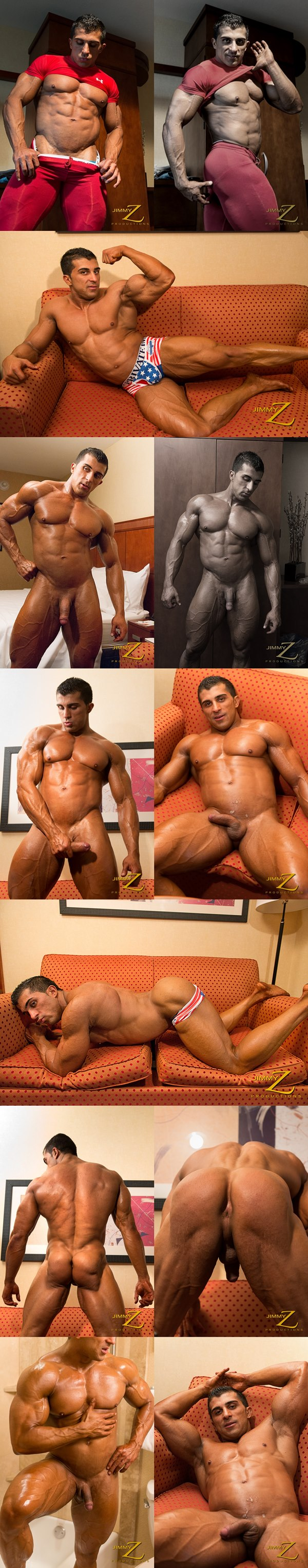 Handsome Karl Kasper shoots his hot load in Muscles for My Client Part 2 at Jimmyzproductions 01