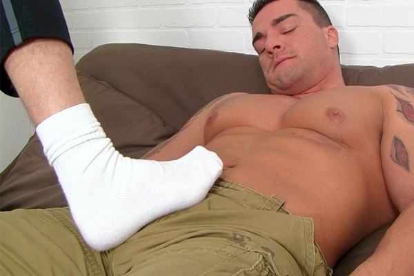 Braden Charron & Link have foot & sock sex at Myfriendsfeet