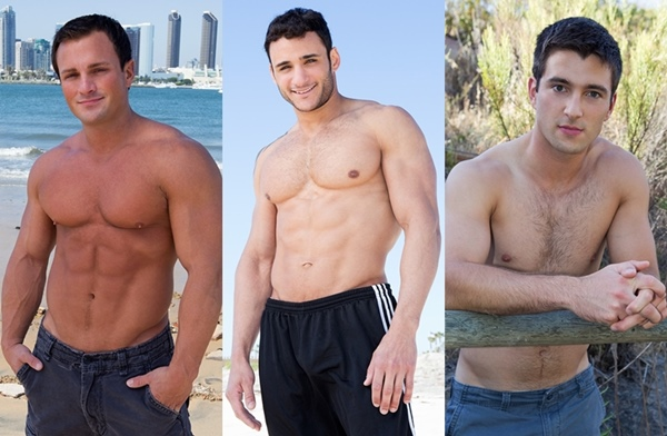 Hot new comers Rene, Rocco and Spencer jerking off at Seancody