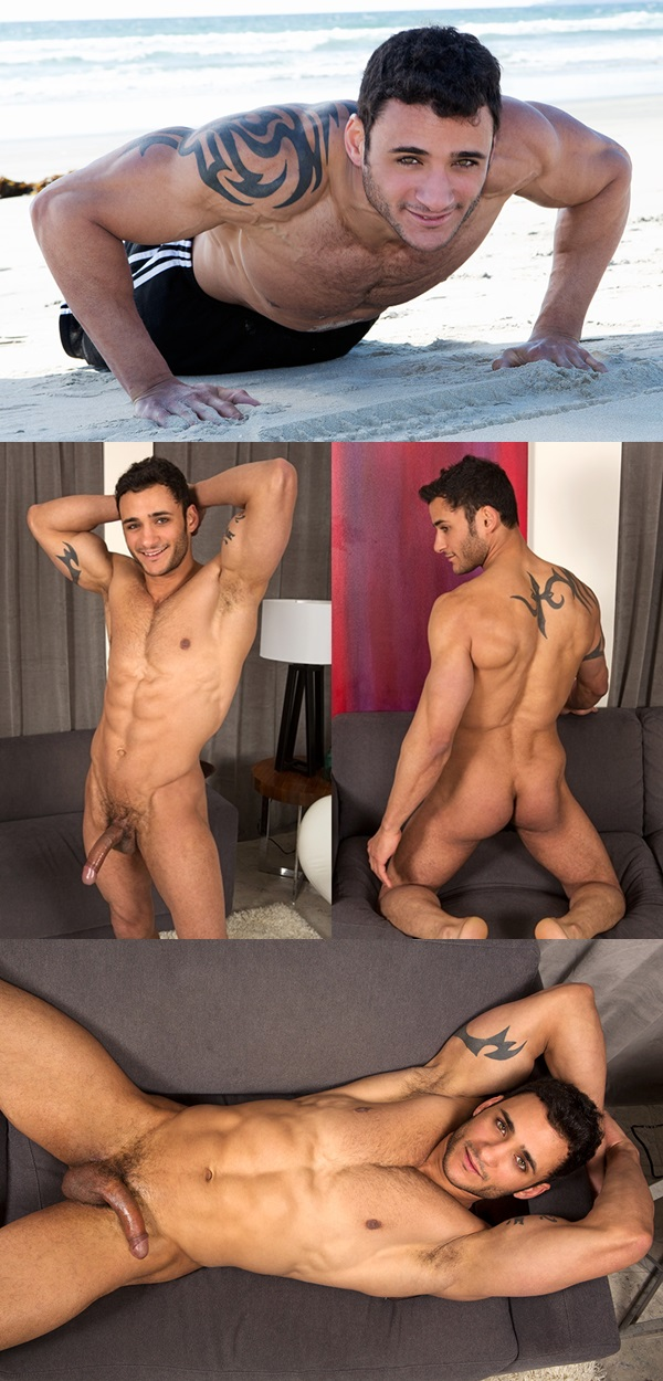 Hot new comers Rene, Rocco and Spencer jerking off at Seancody 02