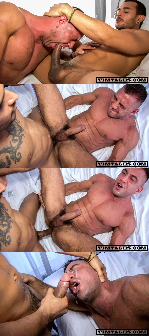 Lucio Saints fucks the hell out of muscled Sergi Serrano at Timtales