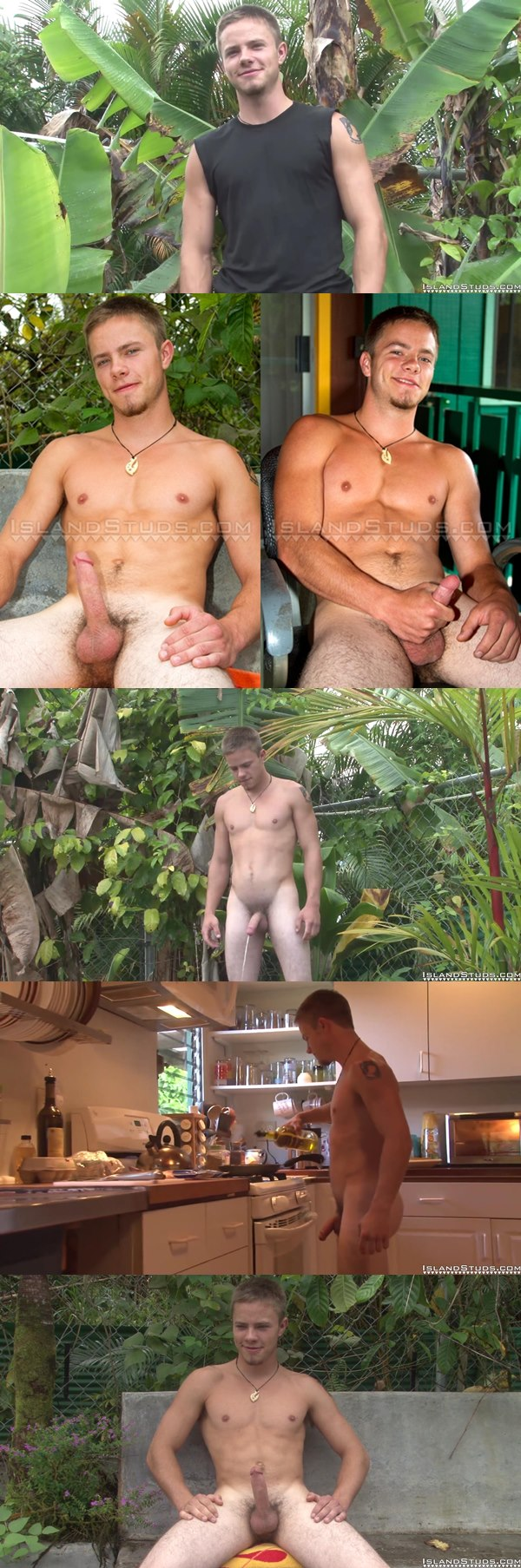 Cute country boy Bobby pees and strokes his hard dick at Islandstuds